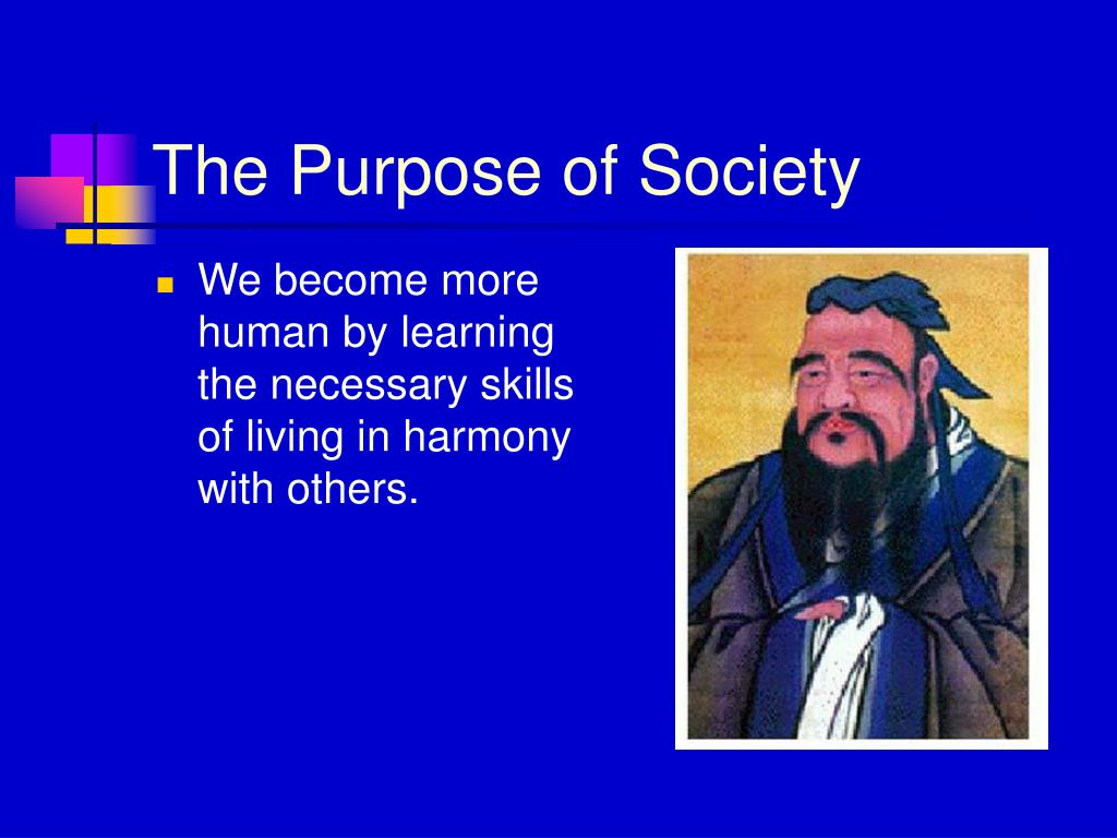 The Purpose of Society