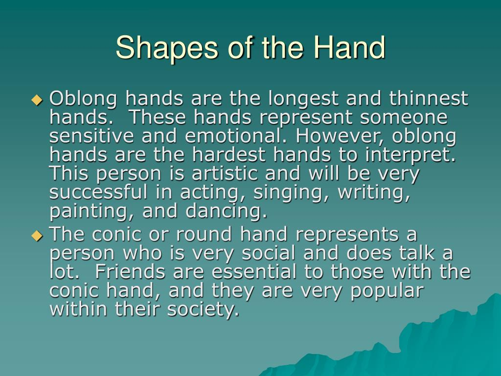 Shapes of the Hand