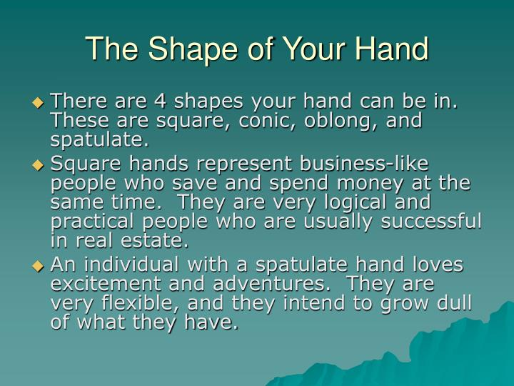 The shape of your hand
