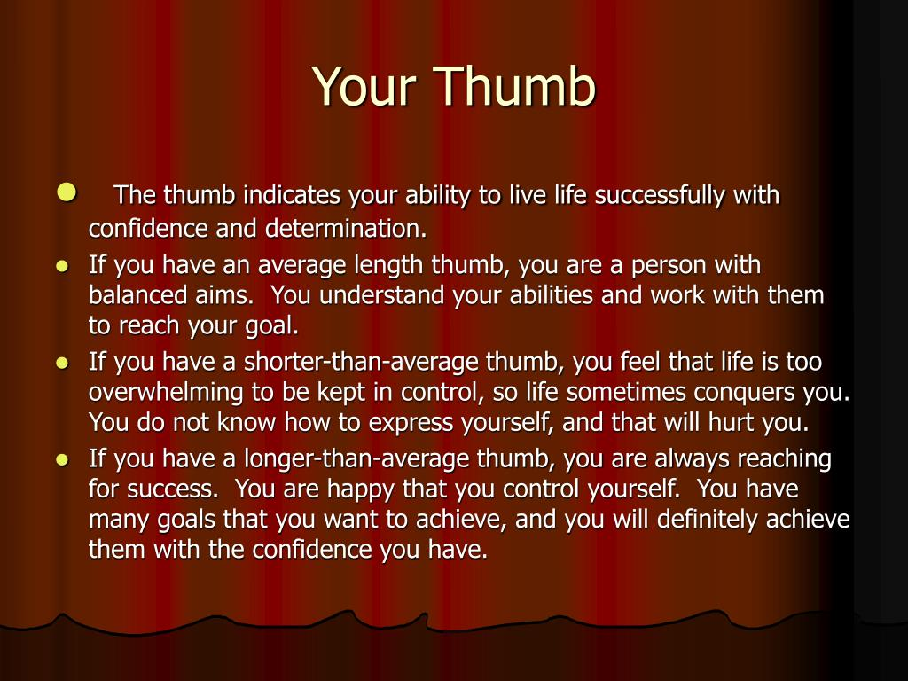 Your Thumb