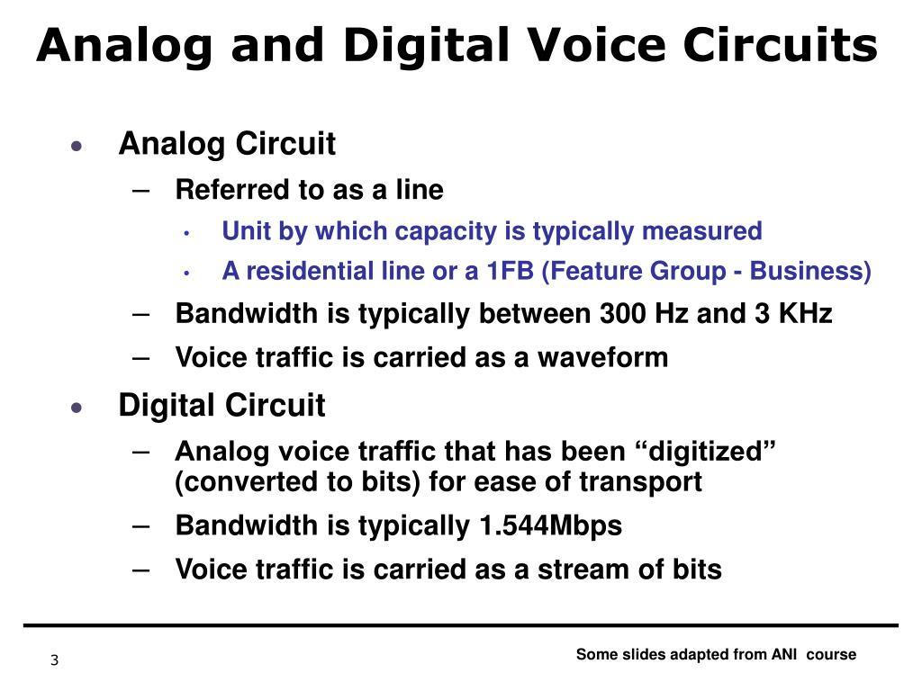 Analog and Digital Voice Circuits