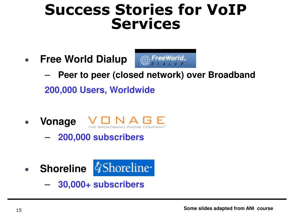 Success Stories for VoIP Services