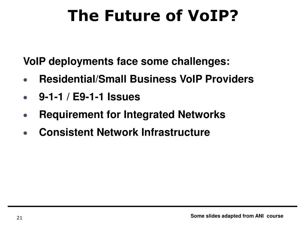 The Future of VoIP?