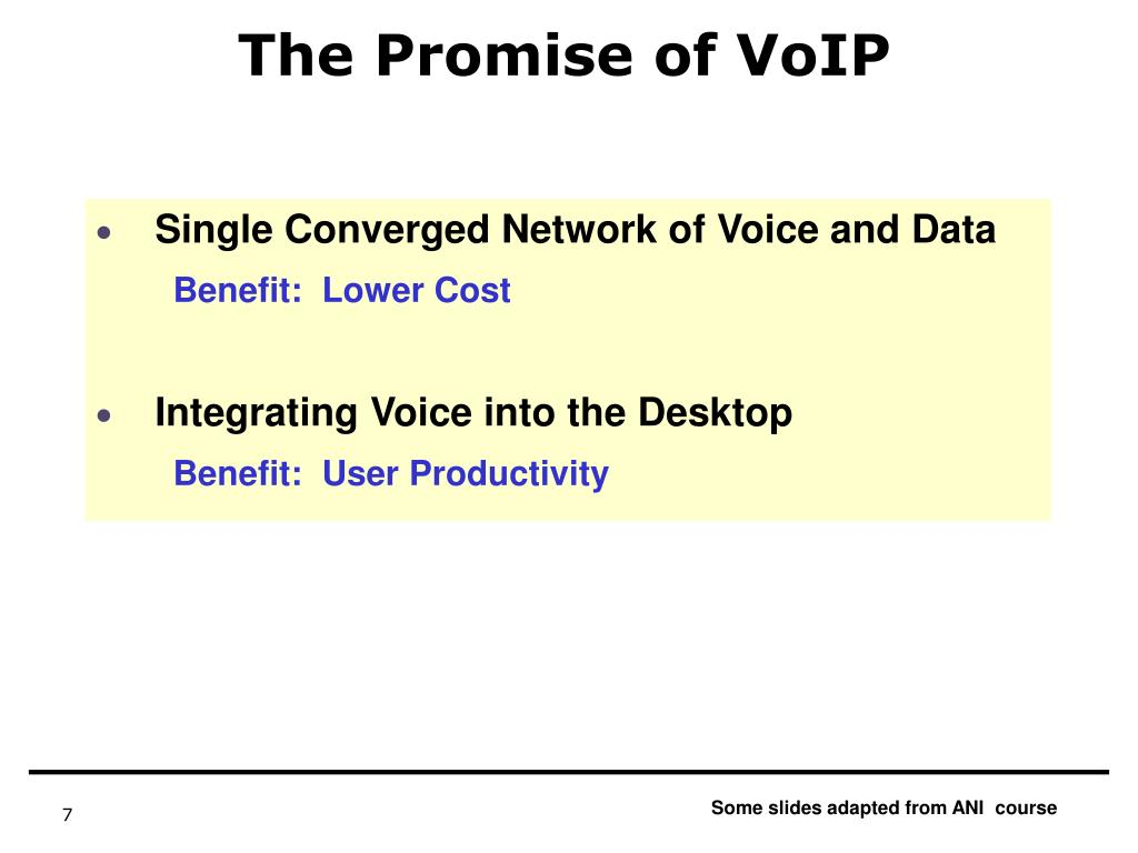The Promise of VoIP