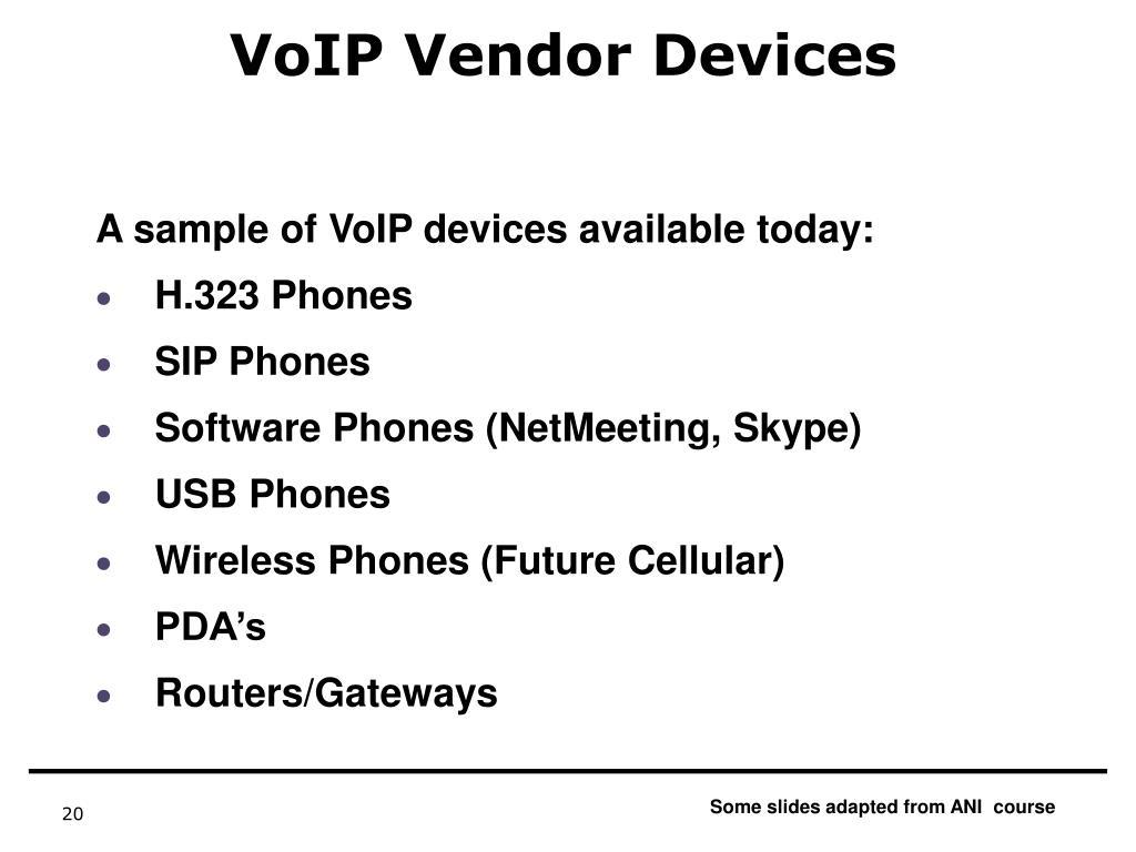 VoIP Vendor Devices