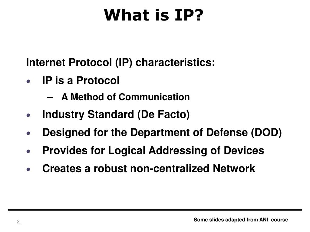 What is IP?