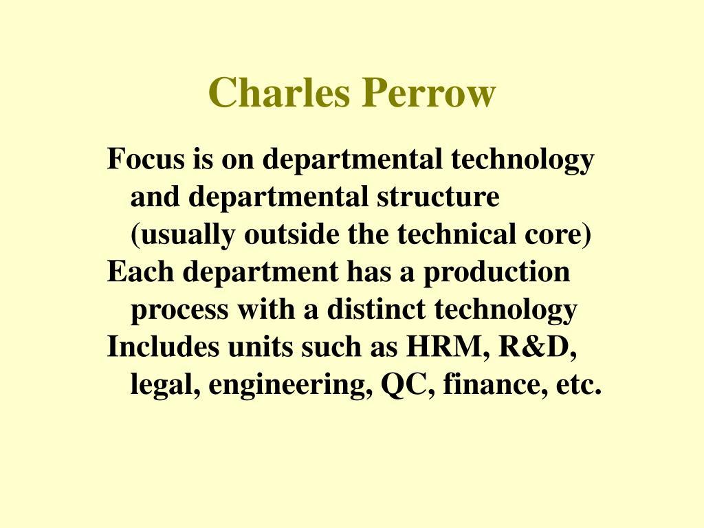 Charles Perrow