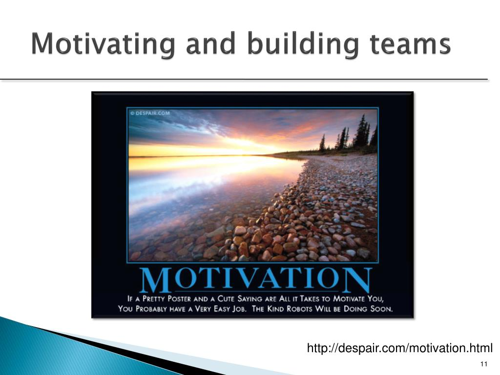 Motivating and building teams