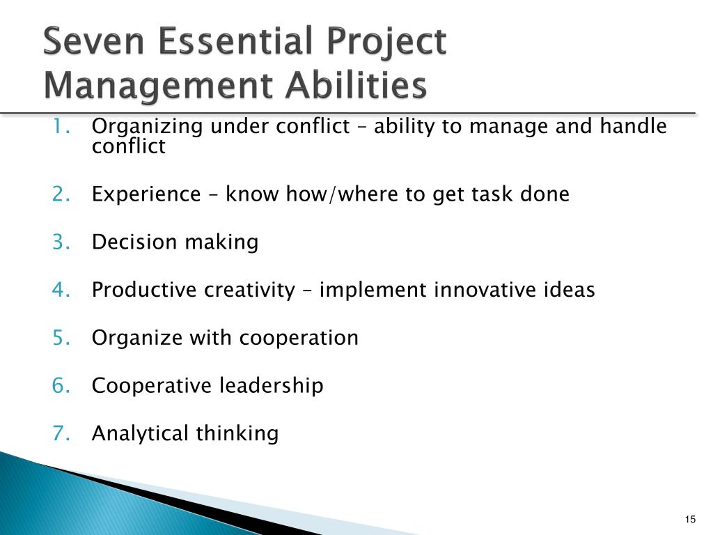 Seven Essential Project Management Abilities