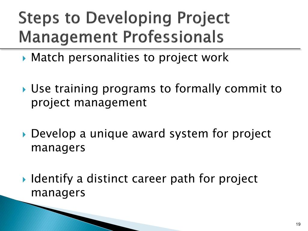 Steps to Developing Project Management Professionals
