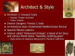 architect style