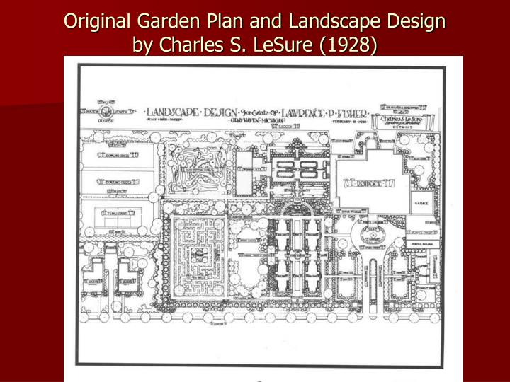 Original Garden Plan and Landscape Design
