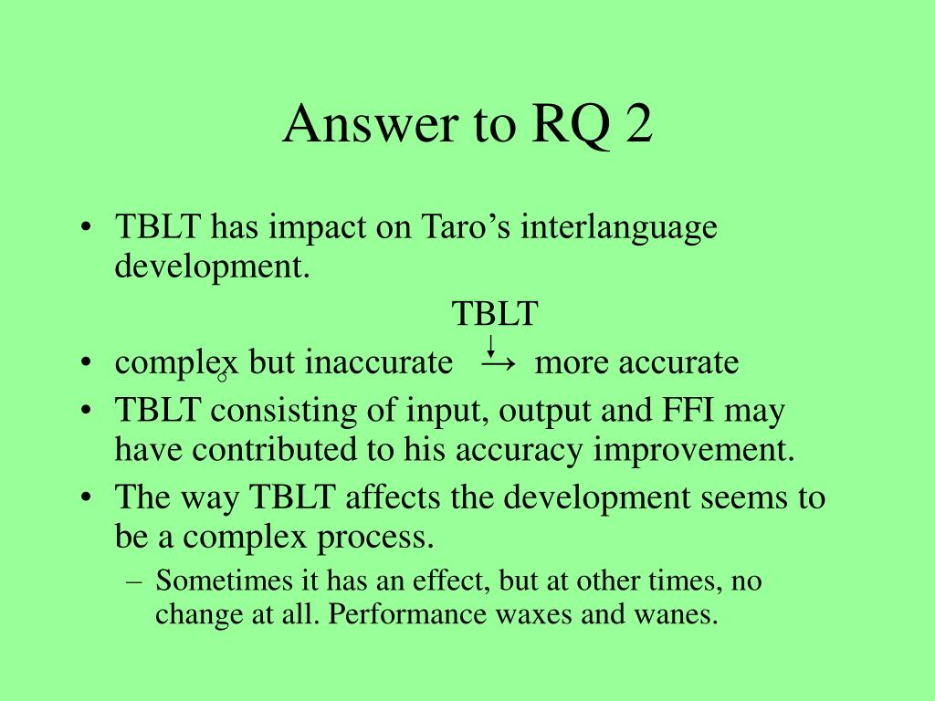 Answer to RQ 2