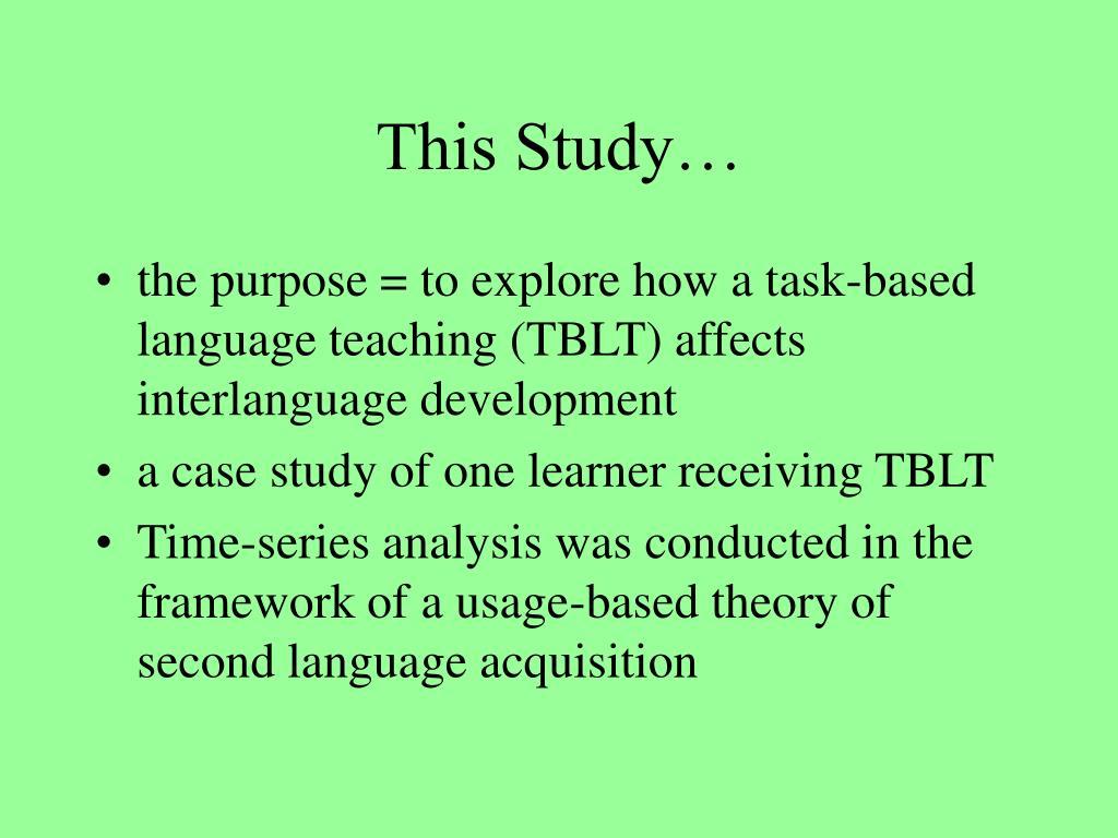 This Study…