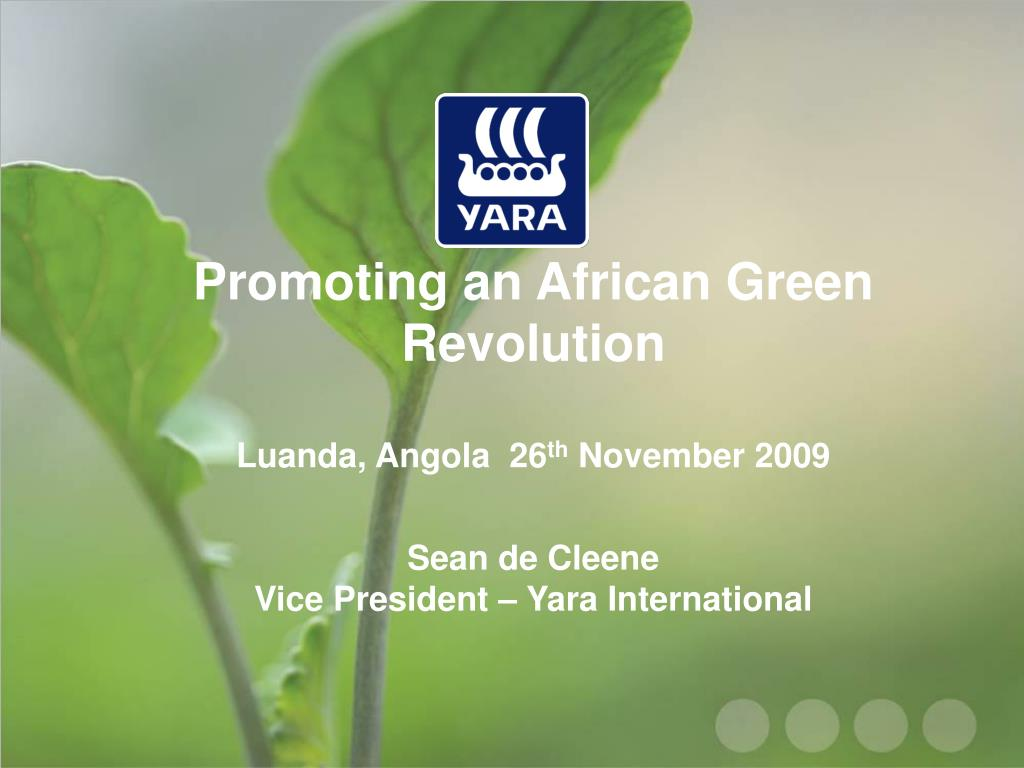 Promoting an African Green Revolution