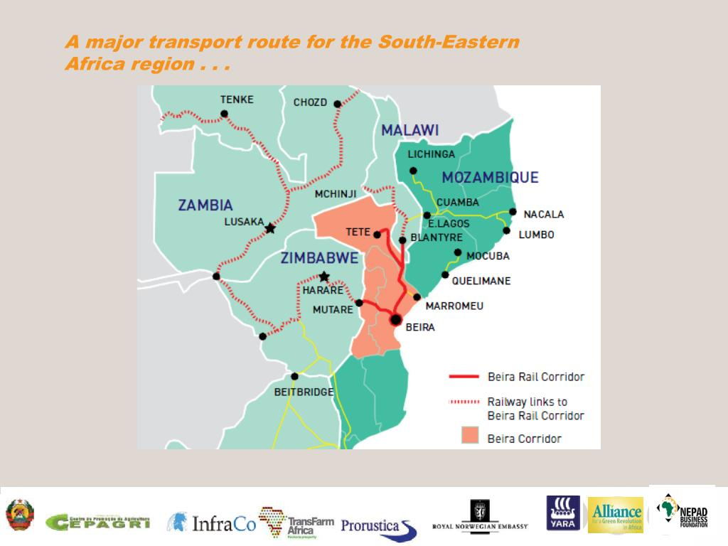 A major transport route for the South-Eastern Africa region . . .
