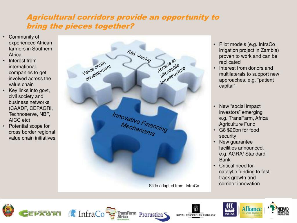Agricultural corridors provide an opportunity to bring the pieces together?