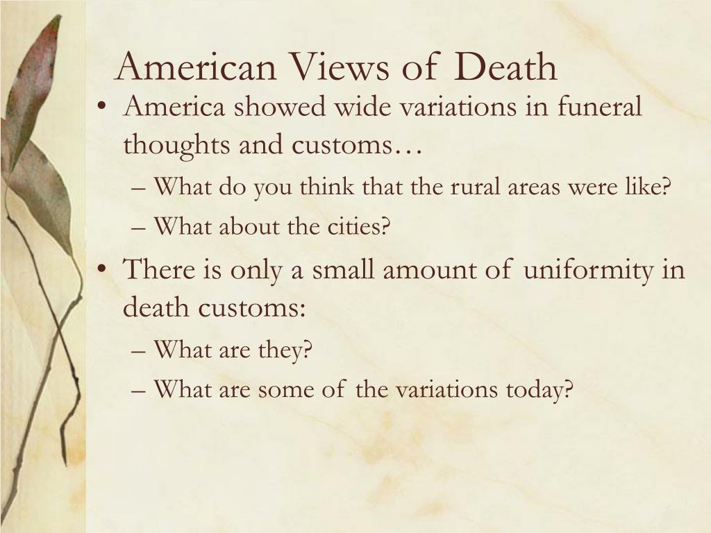 American Views of Death