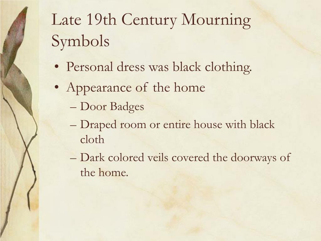 Late 19th Century Mourning Symbols