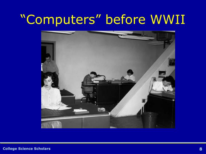 """""""Computers"""" before WWII"""