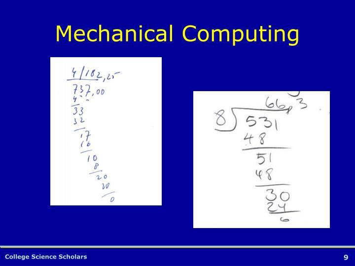Mechanical Computing