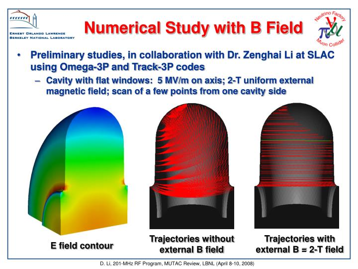 Numerical Study with B Field
