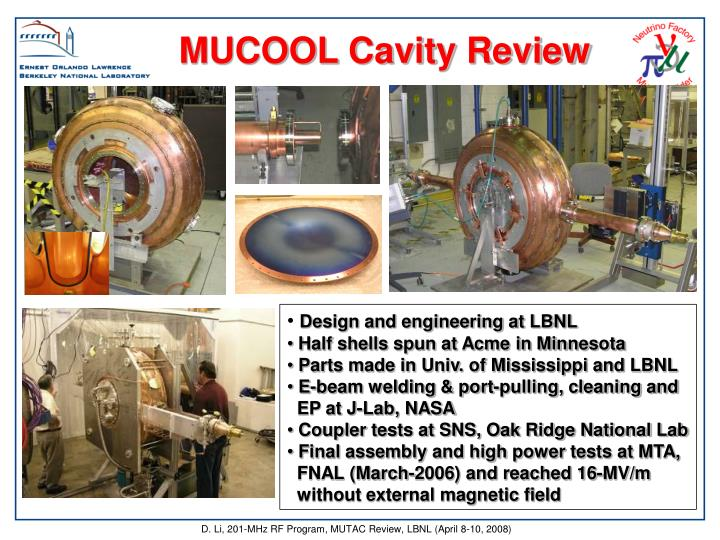 MUCOOL Cavity Review