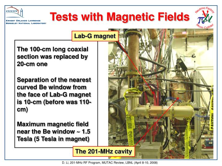 Tests with Magnetic Fields