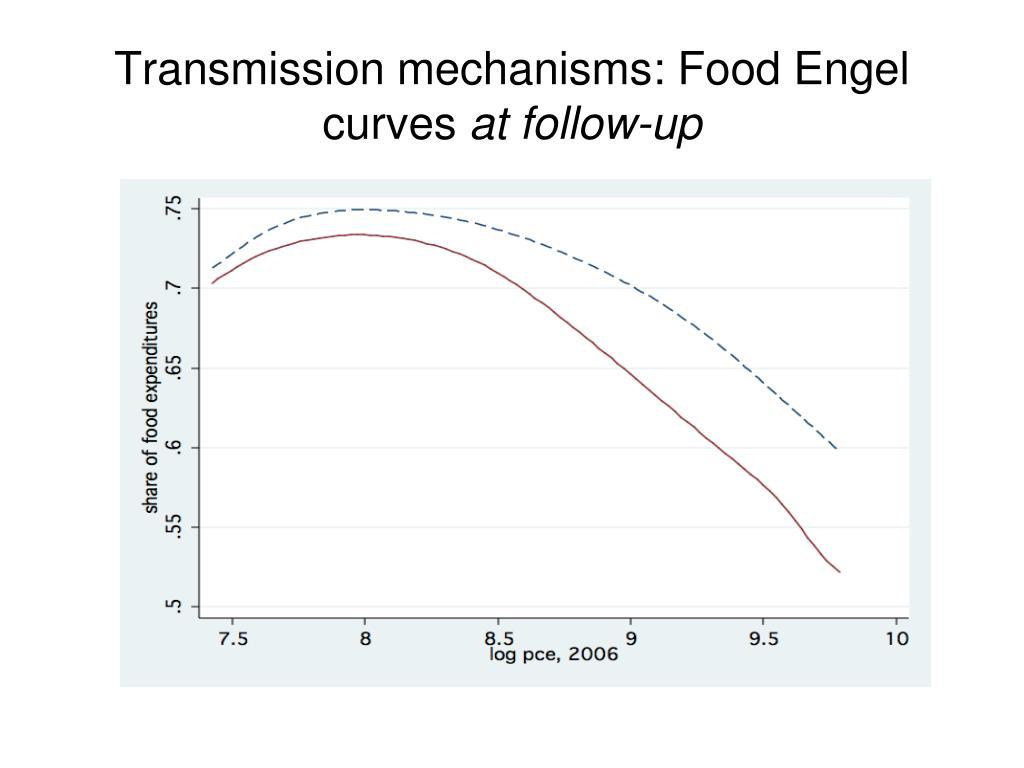 Transmission mechanisms: Food Engel curves