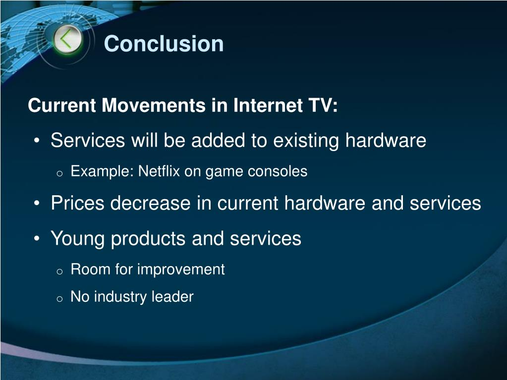 Current Movements in Internet TV: