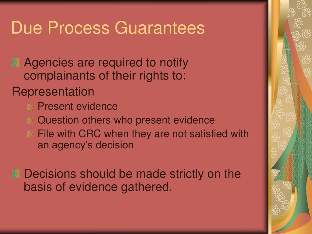 Due Process Guarantees