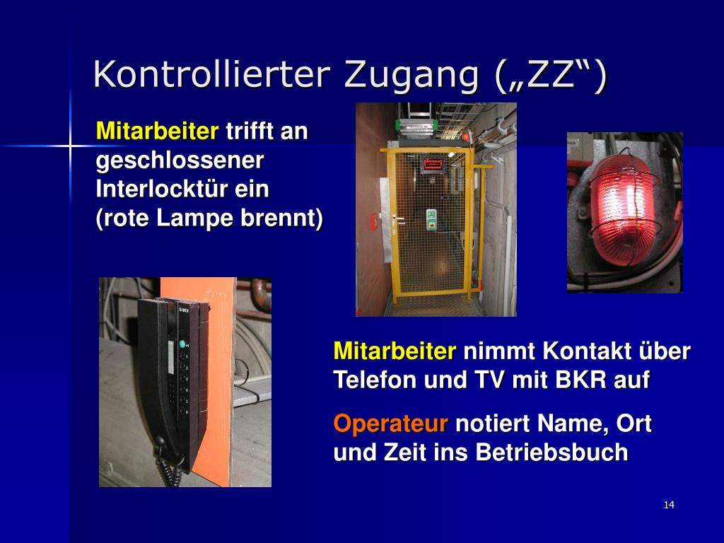 "Kontrollierter Zugang (""ZZ"")"