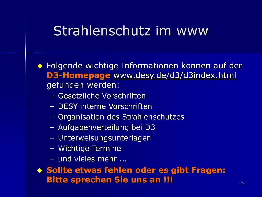 Strahlenschutz im www