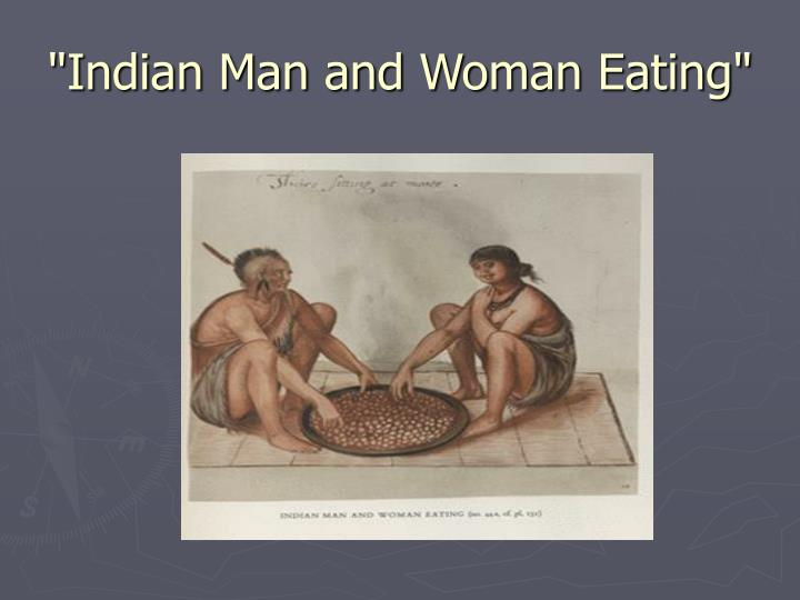 """Indian Man and Woman Eating"""