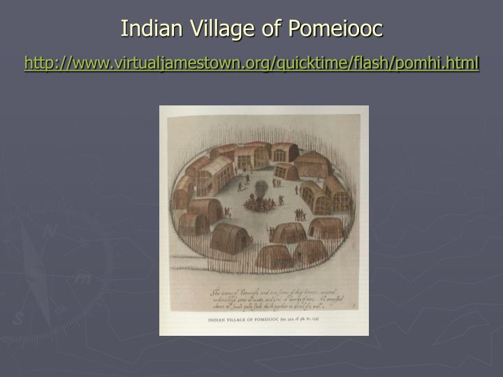 Indian Village of Pomeiooc