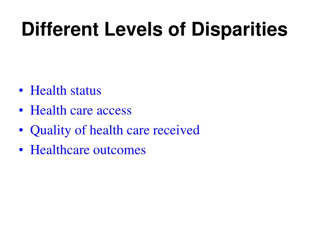 Different Levels of Disparities