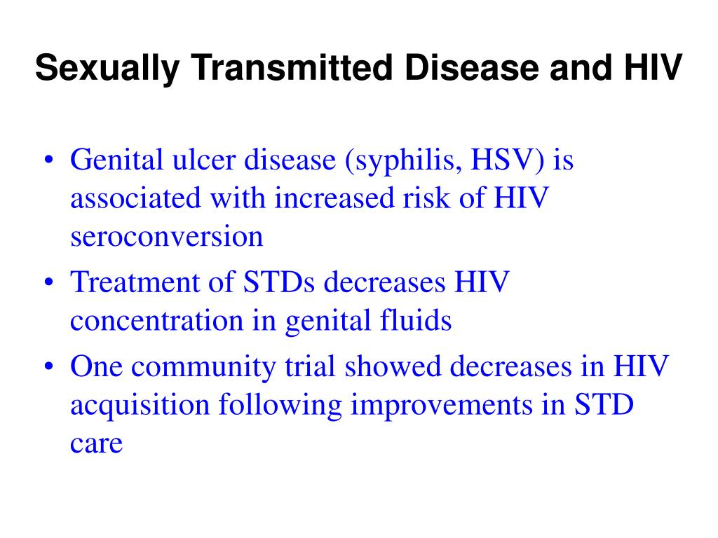 Sexually Transmitted Disease and HIV
