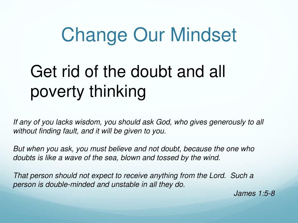 Change Our Mindset