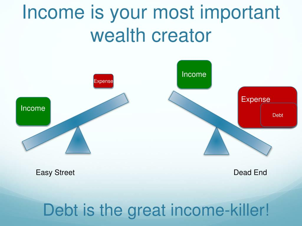 Income is your most important wealth creator