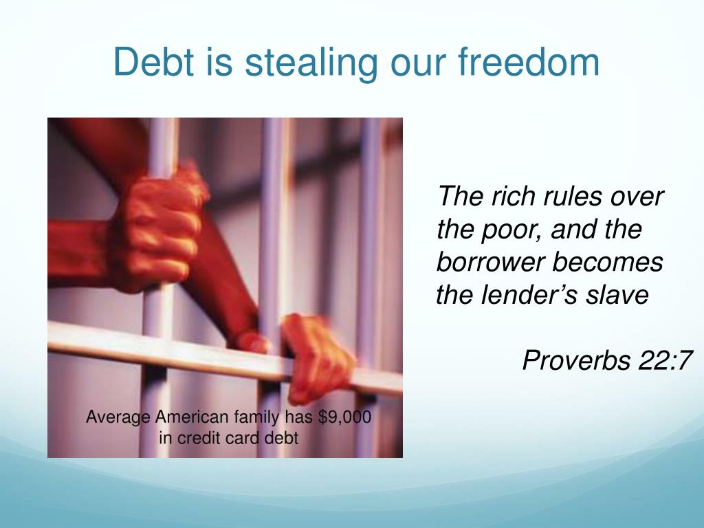 Debt is stealing our freedom