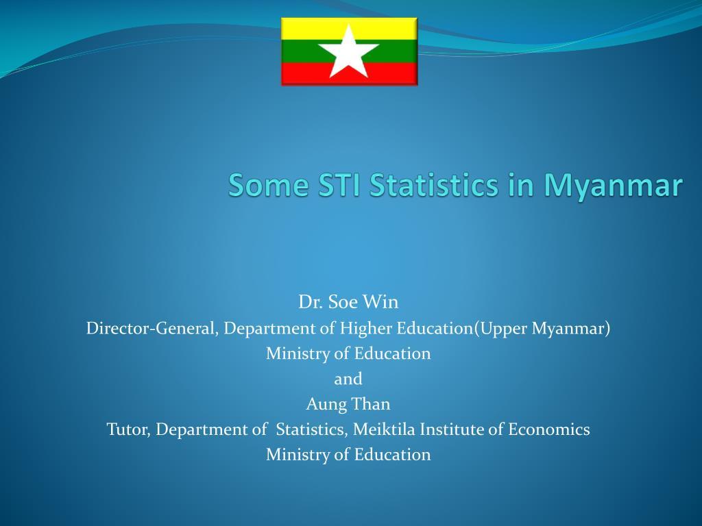 some sti statistics in myanmar l.