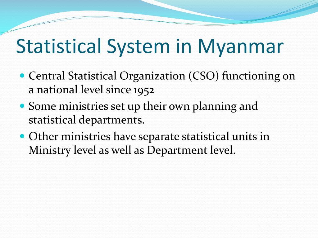 Statistical System in Myanmar