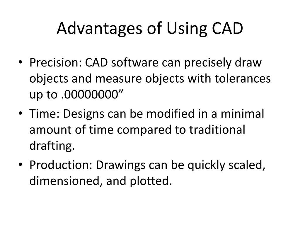 Advantages of Using CAD