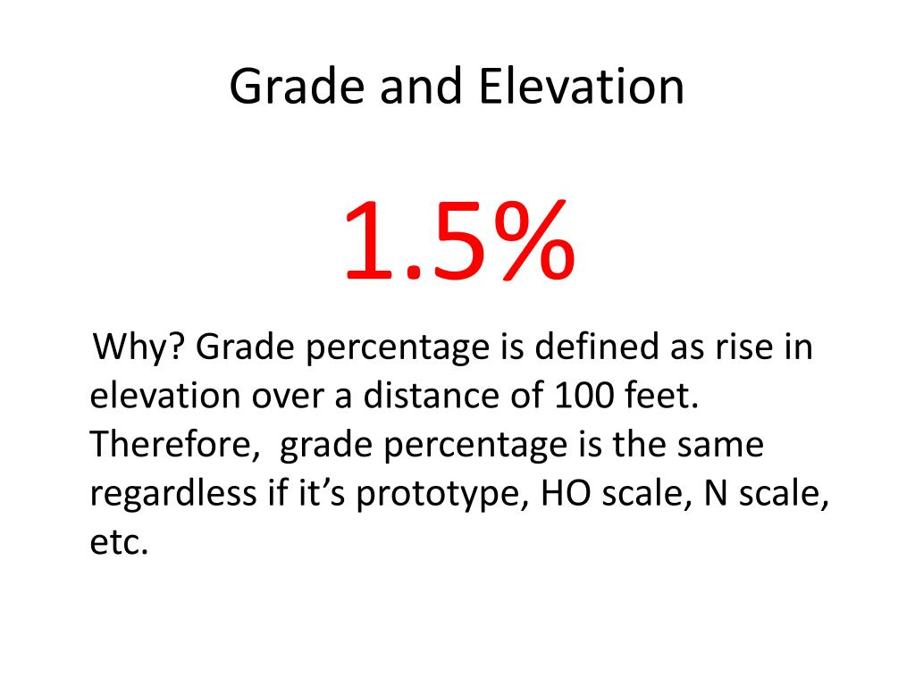 Grade and Elevation