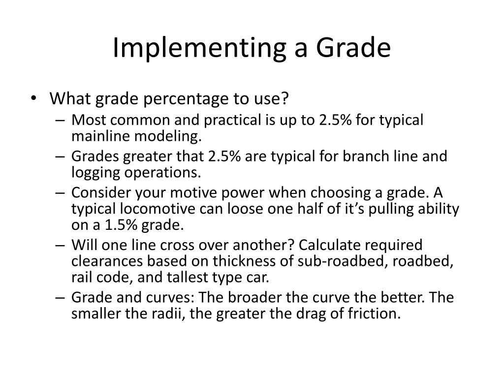 Implementing a Grade