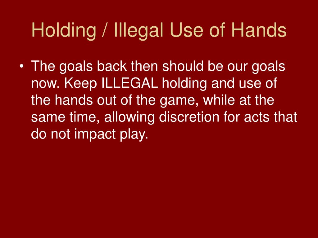 Holding / Illegal Use of Hands