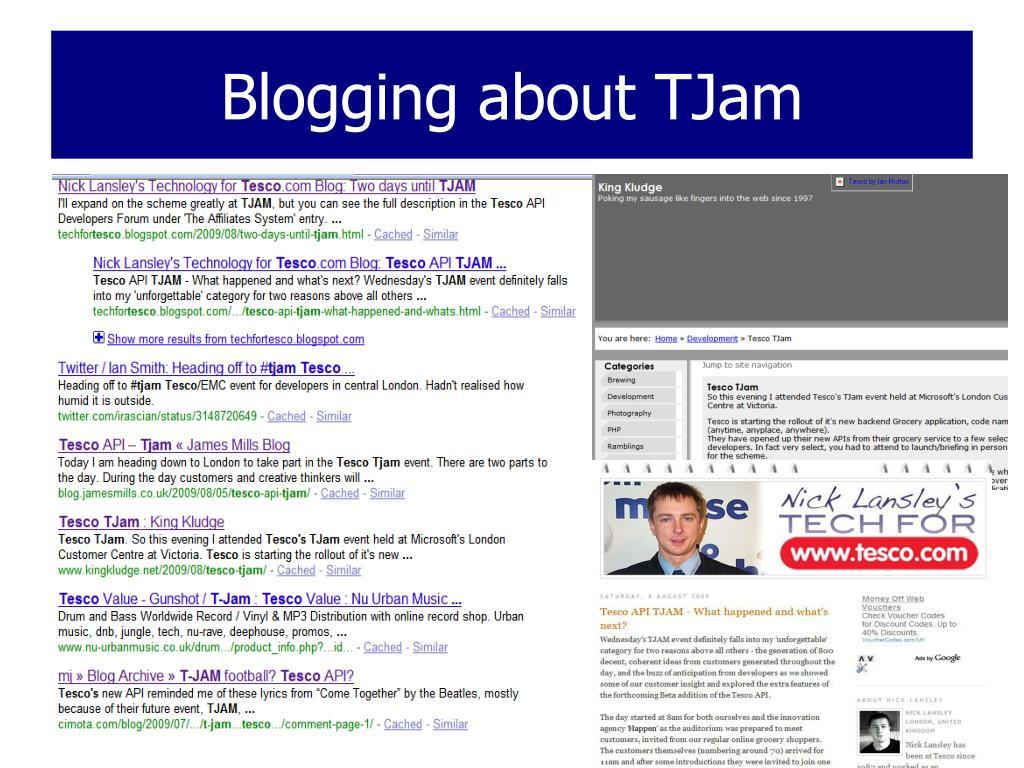 Blogging about TJam