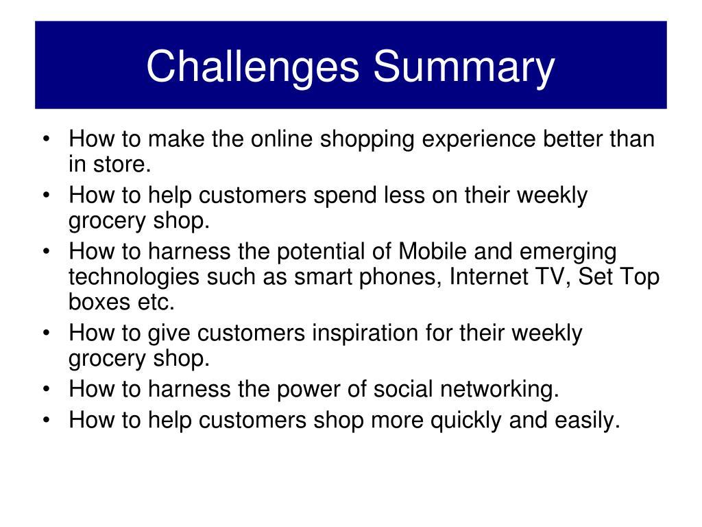 Challenges Summary