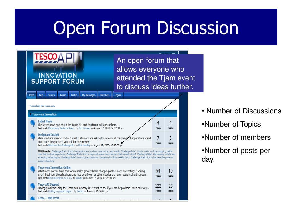 Open Forum Discussion