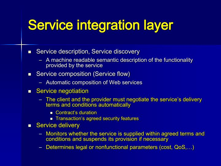 Service integration layer